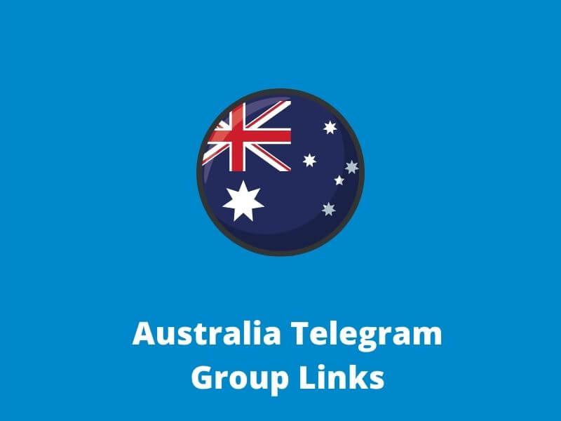 Australia telegram group links