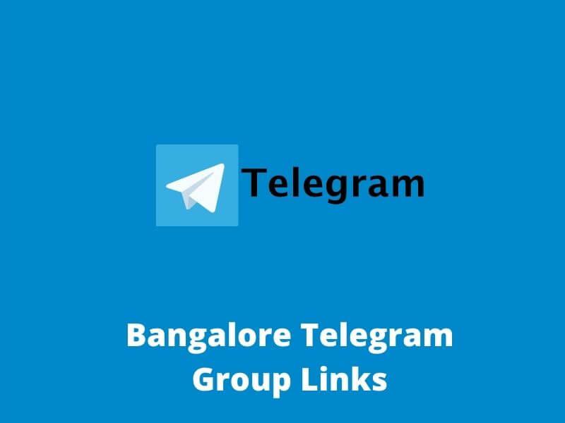Bangalore Telegram Group Links